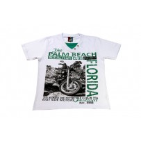 Camiseta Branca Motorcycles Club Teen