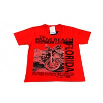 Camiseta Vermelha Motorcycles Club Teen